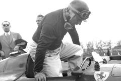 Juan Manuel Fangio - Lancia Ferrari D50 - Silverstone - MAY56 (c)The John Ross Motorsport Racing Archive